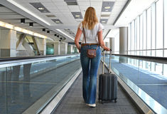 Traveler with a suitcase Stock Image