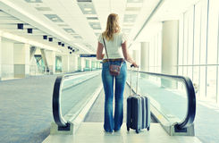 Traveler with a suitcase Royalty Free Stock Images