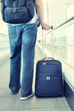 Traveler with a suitcase Royalty Free Stock Photography