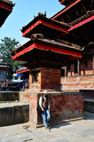 Traveler Thai Women in Basantapur Durbar Square at Kathmandu Nepal Stock Photography