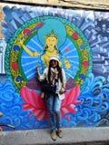 Traveler Thai Women in Basantapur Durbar Square at Kathmandu Nepal Royalty Free Stock Image