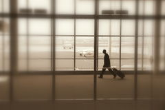 Traveler at the Toronto Pearson Airport Royalty Free Stock Photo