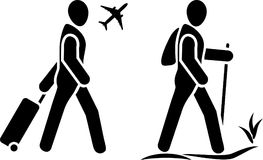 Traveler. Two icons for web design. Illustration Royalty Free Stock Photos