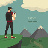 Traveler royalty free stock photo