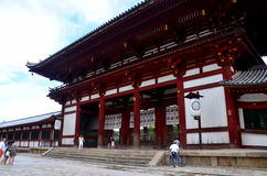 Traveler walking at Todai-ji Temple Stock Photo