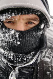 Traveler winter, man portrait Royalty Free Stock Photos