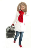 Traveler woman with a bag Stock Image