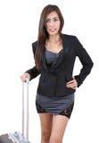 Traveler woman Stock Images