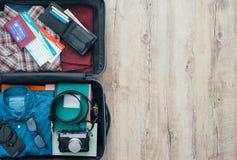 Traveler& x27; bolso de s Imágenes de archivo libres de regalías