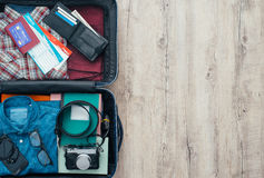 Traveler's bag Royalty Free Stock Images