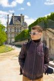 Traveler young man in Paris Stock Photos