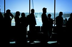 Travelers at Airport Royalty Free Stock Image