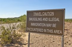 Travelers in Arizona Beware Royalty Free Stock Images