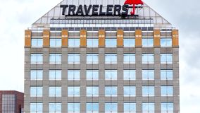 The Travelers Companies Building Exterior stock footage