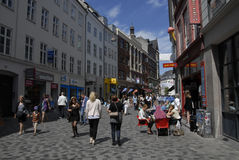 TRAVELERS IN COPENHGEN Royalty Free Stock Photography