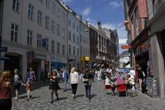 TRAVELERS IN COPENHGEN Stock Photography