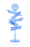 Travelers Global Signpost Stock Image