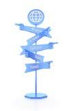Travelers Global Signpost Stock Image