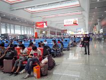 Travelers in guiyang High Speed Rail Station Royalty Free Stock Images