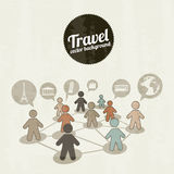 Travelers icons Royalty Free Stock Photos