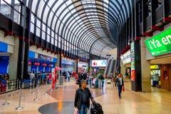 Travelers at the Jose Maria Cordova International Royalty Free Stock Photo