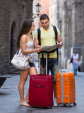 Travelers with luggage Royalty Free Stock Photo