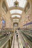 Travelers at Milan Central Train Station, milan, italy Royalty Free Stock Images