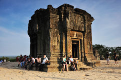 Travelers at Phnom Bakheng, Angkor Royalty Free Stock Image