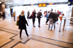 Travelers at a railway station Stock Photography