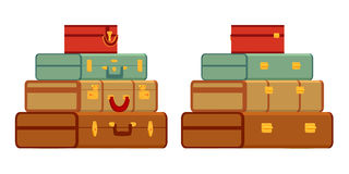 Travelers suitcases Royalty Free Stock Photo