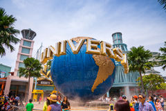 Travelers take photos with Universal land mark Royalty Free Stock Photos