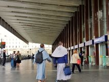 Travelers to Rome Termini Royalty Free Stock Images
