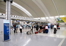 Travelers at the Toronto Pearson Airport Stock Photo