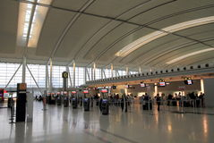 Travelers at the Toronto Pearson Airport Royalty Free Stock Photography