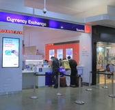 Travelex Currency Exchange. People exchange money at Travelex Melbourne AirportK Stock Photography