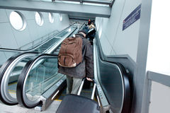 Traveling. People with luggage ready to embark; traveling concept Stock Image