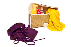 Traveling accessories Stock Photography