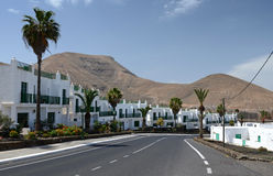 Traveling across Lanzarote's city Stock Image