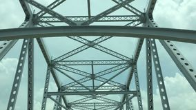 Traveling across a major bridge stock video