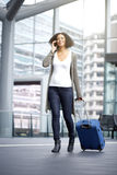 Traveling african american woman Stock Photos