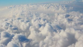 Traveling by air. View through an airplane. Window stock footage