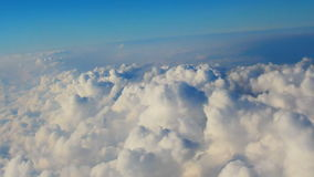 Traveling by air. View through an airplane. Window stock video footage