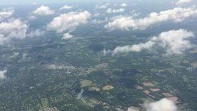 Traveling by air. View through an airplane window.  stock footage