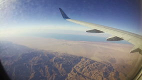 Traveling by Air. View through Airplane Window stock video footage