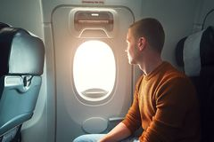 Traveling by airplane Royalty Free Stock Image