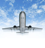 Traveling by airplane sky Stock Image