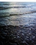 Sea and sun. Spring time . Baltic beach. stock photos