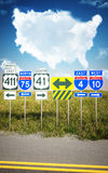Traveling America's roads. Stock Photography