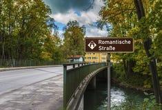 Romantic Road sign Royalty Free Stock Photos