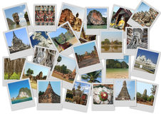 Traveling around Thailand. In collage wit several shots Royalty Free Stock Photography